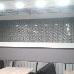 LED-es mintás üvegfal 01
